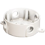 Morris Products 4'' Round Weatherproof Boxes in White with Five Holes