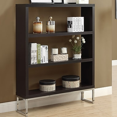 Monarch Specialties Inc. Hollow-Core 60'' Bookcase; Cappuccino