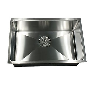 Nantucket Sinks Pro Series 23'' x 18'' Small Radius Stainless Steel Kitchen Sink