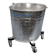 Geerpres Seaway Galvanized 26 Quart Oval Mop Bucket with 2'' Casters