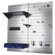 Wall Control Utility Tool Storage and Garage Pegboard Organizer Kit; Blue