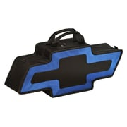 Go Boxes Bowtie Shaped Canvas Bag; Black with A Blue Border