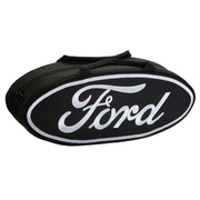 Go Boxes 25'' Oval Shaped Canvas Bag; Black with White Lettering