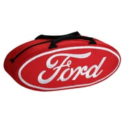 Go Boxes 25'' Oval Shaped Canvas Bag; Red with White Lettering