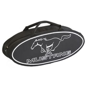Go Boxes 25'' Mustang Oval Shaped Canvas Bag; Black with White Lettering