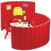 Angeles 48'' SoundSponge Quiet Dividers Wall with 2 Support Feet; Strawberry