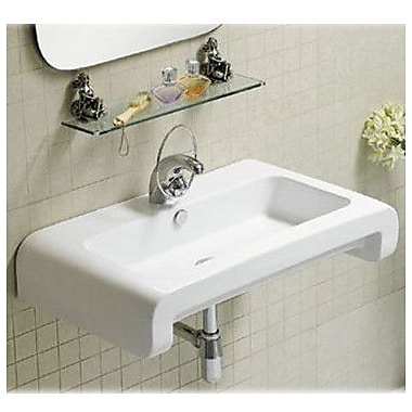 Whitehaus Collection Isabella Rectangular Bathroom Sink w/ Overflow and Rear Center Drain