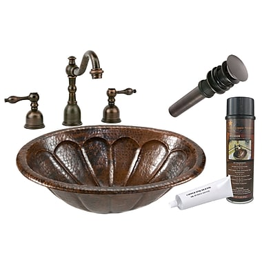 Premier Copper Products Sunburst Self Rimming Hammered Sink