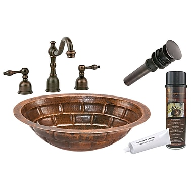 Premier Copper Products Stacked Stone Under Counter Bathroom Sink