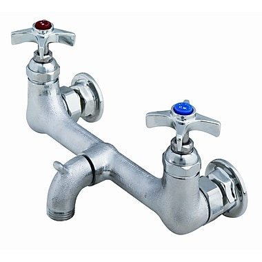 T&S Brass Wall Mounted Bathroom Faucet w/ Double Cross Handles