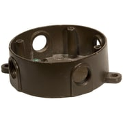 Morris Products 4'' Round Weatherproof Boxes in Bronze with Five Holes