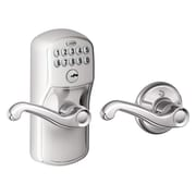 Schlage Plymouth by Flair Keypad Lever with Auto Lock; Bright Chrome