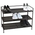 Oceanstar Design 3 Tier Stackable Metal Shoe Storage Shelf