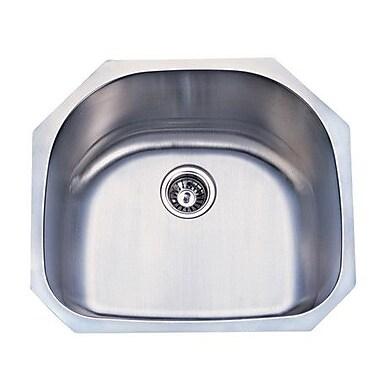 Elements of Design Undermount D Shape Kitchen Sink