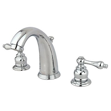 Elements of Design Widespread Bathroom Faucet w/ Double Metal Lever Handles; Polished Chrome