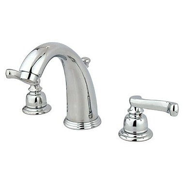 Elements of Design Widespread Bathroom Faucet w/ Double French Lever Handles; Polished Chrome