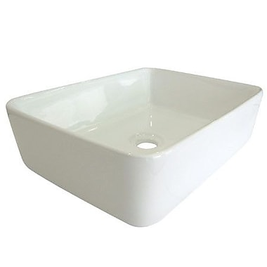 Elements of Design French Petite Vessel Bathroom Sink; White