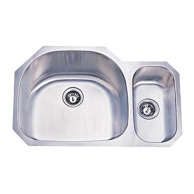 Elements of Design 31.5'' x 20.69'' Double Bowl Undermount Kitchen Sink