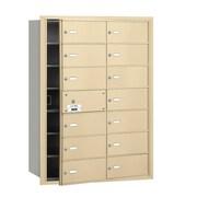 Salsbury Industries 4B+ Horizontal Mailbox 14 Doors Front Loading USPS Access ; Sandstone
