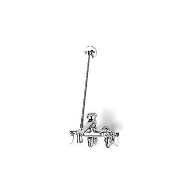 T&S Brass Wall Mounted Sink Faucet w/ Double Handles
