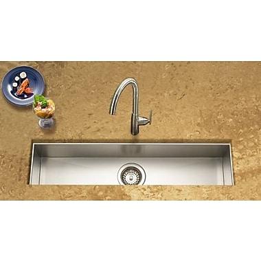 Houzer Contempo 32'' x 8.5'' x 6'' Zero Radius Undermount Trough Bar Sink