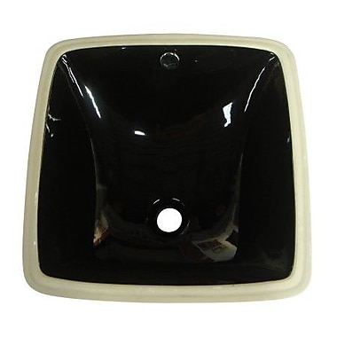 Elements of Design Vista Undermount Bathroom Sink; Black