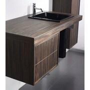 Whitehaus Collection Aeri Single Wood Unit Bathroom Vanity Set with Double Drawer; Zebrano