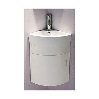 Elanti 17.5'' Single Melamine Wall Hung Corner Bathroom Vanity Set