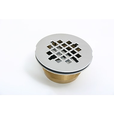 CSI Bathware No-Caulk 4.25 Grid Shower Drain