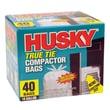 Husky True Tie Compactor Bags