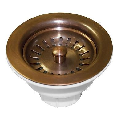 Native Trails Sink 4.5'' Basket Strainer w/ Disposer Trim; Weathered Copper