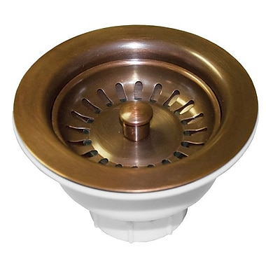 Native Trails 3.5'' Basket Strainer; Solid Copper