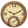 Taylor Springfield Precision Instruments 15.8'' Thermometer Wall Clock