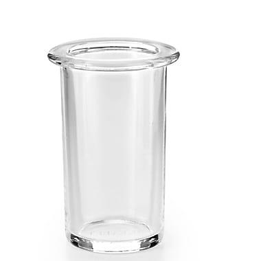 WS Bath Collections Saon Tumbler; Polished Chrome / Clear Glass