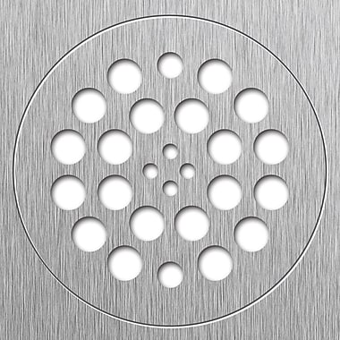 Tile Redi 5.75'' Grid Shower Drain; Brushed Nickel