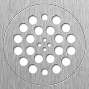 Tile Redi 2 Piece 5.75'' Drain Plate Set; Brushed Nickel
