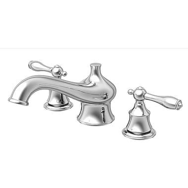 Aqueous Faucet Teabury Double Handle Desk Mount Roman Tub Faucet Lever Handle; Brushed Nickel