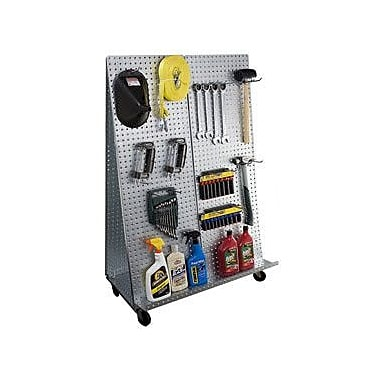 Alligator Board ''A'' Frame Metal Pegboard WOW Tool Cart w/ Wheels