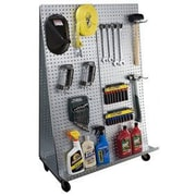 Alligator Board ''A'' Frame Metal Pegboard WOW Tool Cart w/ Wheels