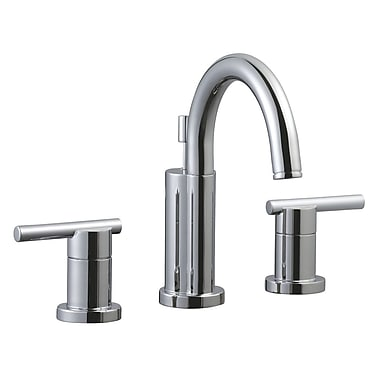 Design House Geneva Double Handle Wide Spread Bathroom Faucet; Polished Chrome