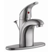 Design House Lola Single Handle Bathroom Sink; Satin Nickel