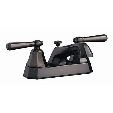 Design House Barcelona Double Handle Centerset Bathroom Faucet; Brushed Bronze