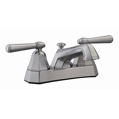 Design House Barcelona Double Handle Centerset Bathroom Faucet; Satin Nickel