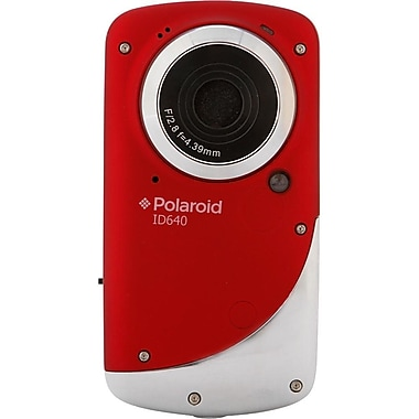 Polaroid iD640 Waterproof 720p Pocket Digital Video Camcorder With 2in. LCD Display, Red