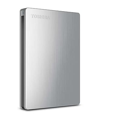 Toshiba Canvio® Slim II 1TB Portable USB 3.0 External Hard Drive For Macintosh (Silver)
