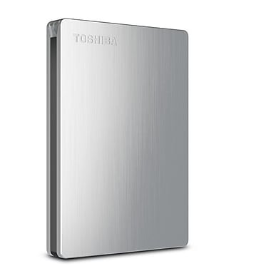 Toshiba Canvio® Slim II 1TB Portable USB 3.0 External Hard Drive For PC (Silver)