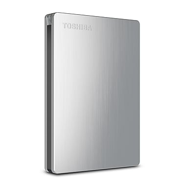 Toshiba Canvio® Slim II 500GB Portable USB 3.0 External Hard Drive For Macintosh (Silver)