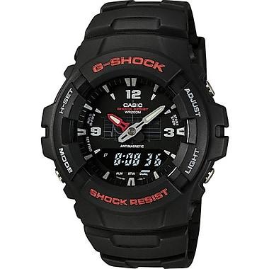 Casio® G100-1BV G-Shock Men's Analog/Digital Wrist Watch, Black