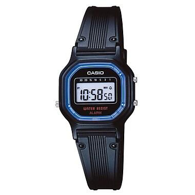 Casio® LA-11WB-1 Women's Digital Daily Alarm Classic Water Resistant Wrist Watch, Black