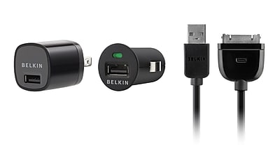 Belkin 1 AMP Micro Charger Kit For iPod, iPhone, Black 962405